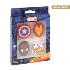 Goma De Borrar Pack X4 Marvel