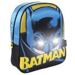 Mochila Infantil Luces 3D Batman 25 Cm