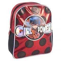 Mochila Infantil Personaje Brillante Lady Bug 31 Cm