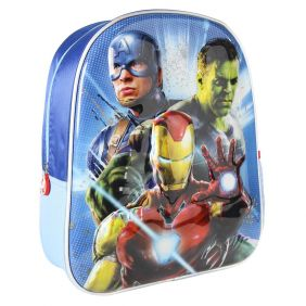 Mochila Infantil 3D Premium Metalizada Avengers 31 Cm