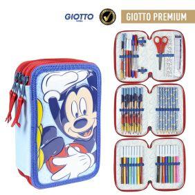 Plumier Triple Giotto Premium Pvc Mickey 19 Cm