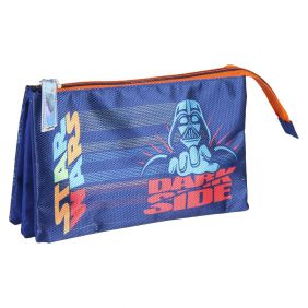 Estuche/Portatodo Plano 3 Compartimentos Star Wars 12 Cm