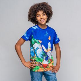 Camiseta Corta Estampado Single Jersey Sonic