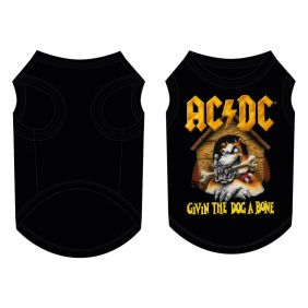 Camiseta Para Perro Single Jersey Acdc