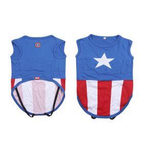 Camiseta Para Perro Single Jersey Avengers Capitan America