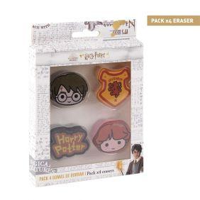 Goma De Borrar Pack X4 Harry Potter
