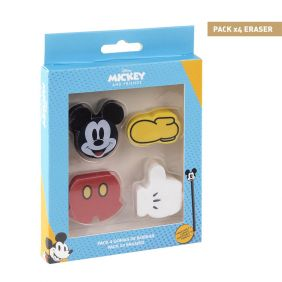 Goma De Borrar Pack X4 Mickey