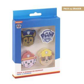 Goma De Borrar Pack X4 Paw Patrol