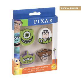 Goma De Borrar Pack X4 Pixar