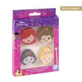 Goma De Borrar Pack X4 Princess