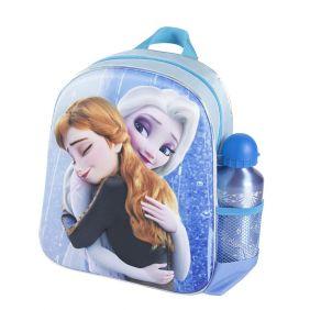 Mochila Infantil 3D Con Accesorios Frozen 31 Cm