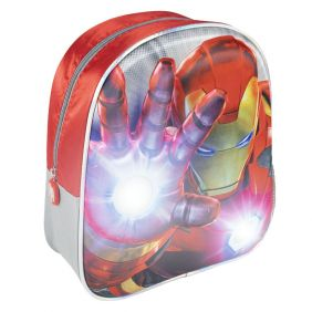 Mochila Infantil Luces 3D Avengers 31 Cm