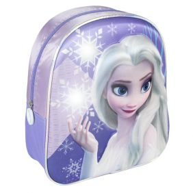 Mochila Infantil Luces 3D Frozen II 31 Cm