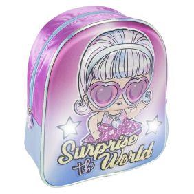 Mochila Infantil Luces 3D Lol 31 Cm