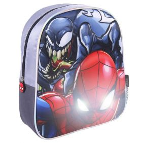 Mochila Infantil Luces 3D Spiderman 31 Cm