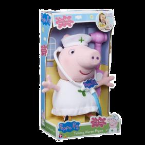 Muñeco Peppa Pig Enfermera Con Sonidos Y Otoscopio Electronico Sonidos En Ingles.