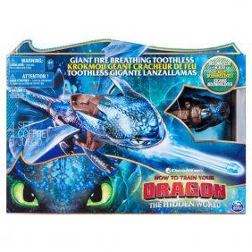 Dragon Lanzallamas Desdentado 56 Cm ¡Añadele Agua Y Veras El Efecto Lanzallamas!