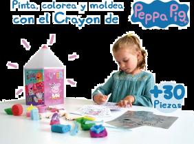Crayón De Actividades Peppa Pig Para Pintar Y Dibujar Con Más De 30 Piezas