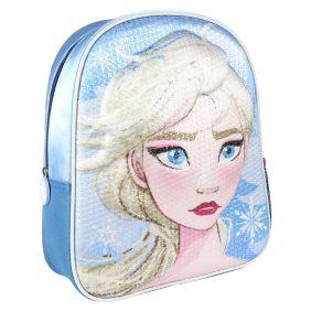 Mochila Infantil 3D Premium Lentejuelas Frozen 2 31 Cm