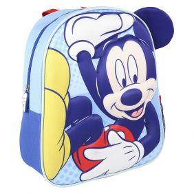 Mochila Infantil 3D Premium Aplicaciones Mickey 31 Cm