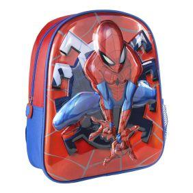 Mochila Infantil 3D Premium Metalizada Spiderman 31 Cm