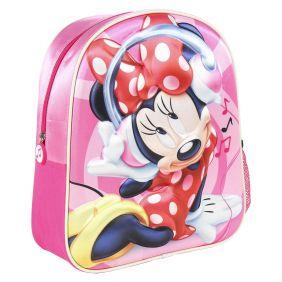 Mochila Infantil 3D Minnie 31 Cm