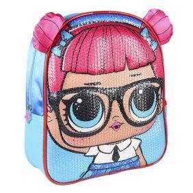 Mochila Infantil 3D Premium Lentejuelas Lol 31 Cm