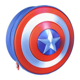 Mochila Infantil 3D Premium Avengers Capitan America 31 Cm