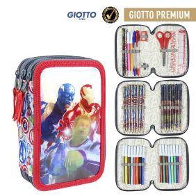Plumier Triple Giotto Premium Metalizada Avengers 19 Cm