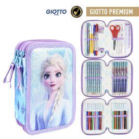 Plumier Triple Giotto Premium Lentejuelas Frozen 2 19 Cm