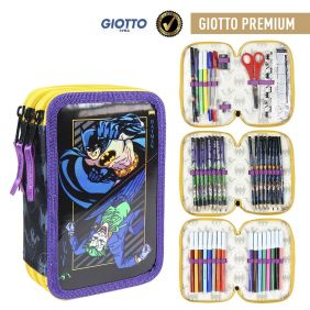Plumier Triple Giotto Premium Metalizada Batman 19 Cm