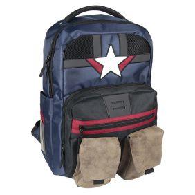 Mochila Casual Viaje Avengers Capitan America 48 Cm