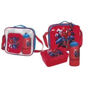Portamerienda Con Accesorios Spiderman 15 Cm