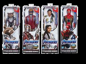 Figura Avengers Titan Hero 30 Cm Mod. Sdos (Iron Spider, Stard Lord, Valkiria Y Rocket)