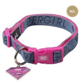Collar Rosa Perro Grandes de Super Girl - Talla M/L