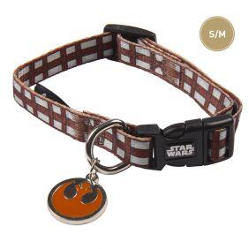 Collar Perro Marron Perro Mediano de Chewbacca - Talla S/M