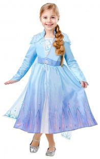 Disfraz Elsa Travel Frozen2 Deluxe Infantil S