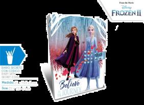 Diario Secreto Con Codigo Frozen 21X15.5X3 Cm