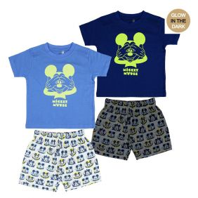 Pijama Corto Glow In The Dark Single Jersey Mickey.jpg