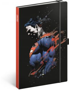 Libreta Superman, lined, 13 × 21 cm