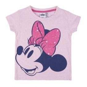 Camiseta Corta Glitter Minnie