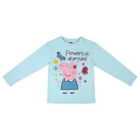 Camiseta Larga Premium Glitter Single Jersey Peppa Pig
