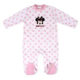 Pelele Bebe Velour Cotton Minnie