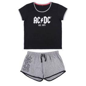 Pijama Corto Single Jersey Acdc Adultos