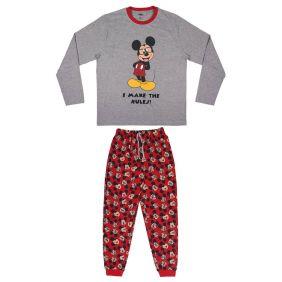 Pijama Adulto Largo Single Jersey Mickey