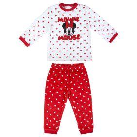Pijama Bebe Largo Velour Cotton Minnie