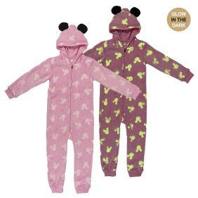 Pijama Dormilón Glow In The Dark Coral Fleece Minnie