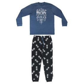 Pijama Largo Adulto Interlock Music Acdc