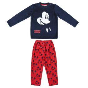 Pijama Largo Velour Cotton Mickey