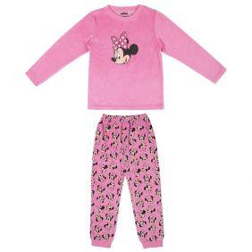 Pijama Largo Velour Cotton Minnie